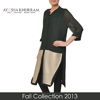 Latest Fall Collection, Winter 2013,  Ayesha Khurram,casual wear
