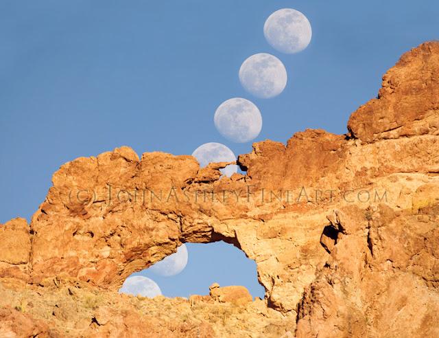 Double Arch Desert Moonbow (c) John Ashley