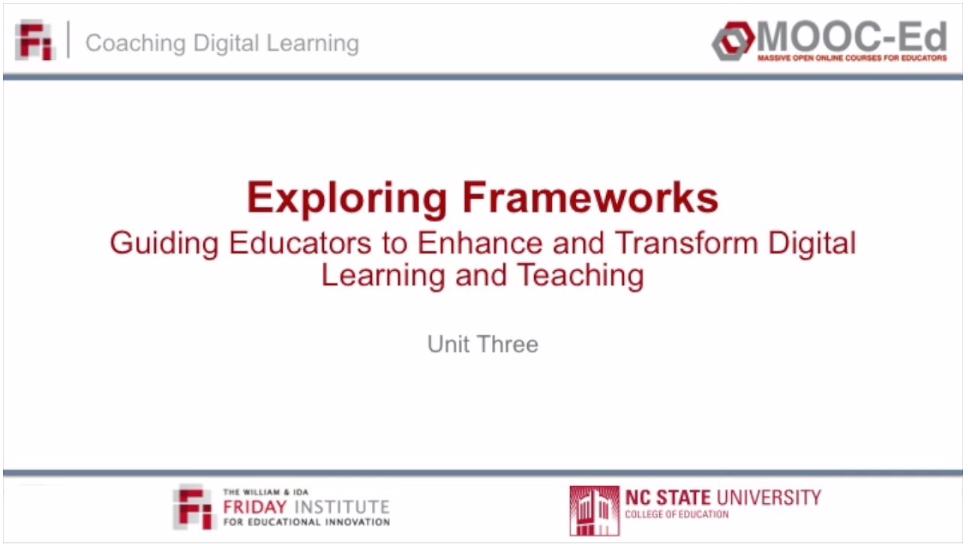 Unit 3: Exploring Frameworks (Vimeo)