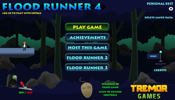 Unblocked Game : Flood Runner 4