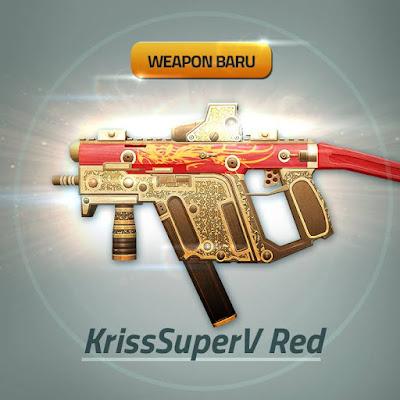 Senjata Baru PB Garena Indoenesai Kriss SuperV Red