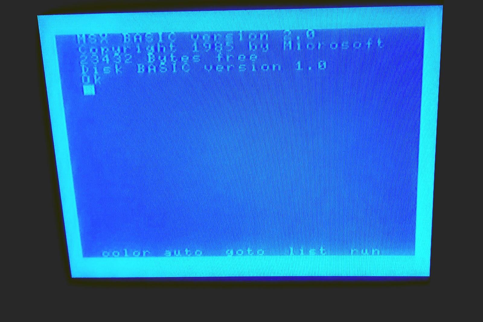 MSX BASIC Prompt In Pioneer UC V102