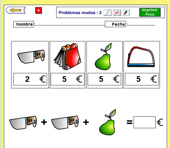 Empiezo 1º y 2º de primaria.: PROBLEMAS MUDOS.PRÁCTICA DE CÁLCULO ...
