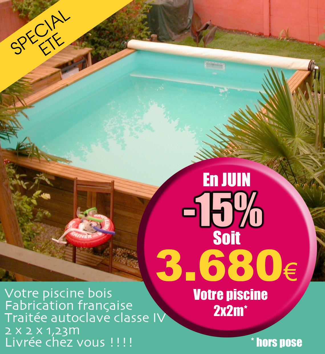 Le blog de la piscine bois for Piscine bois 2x2