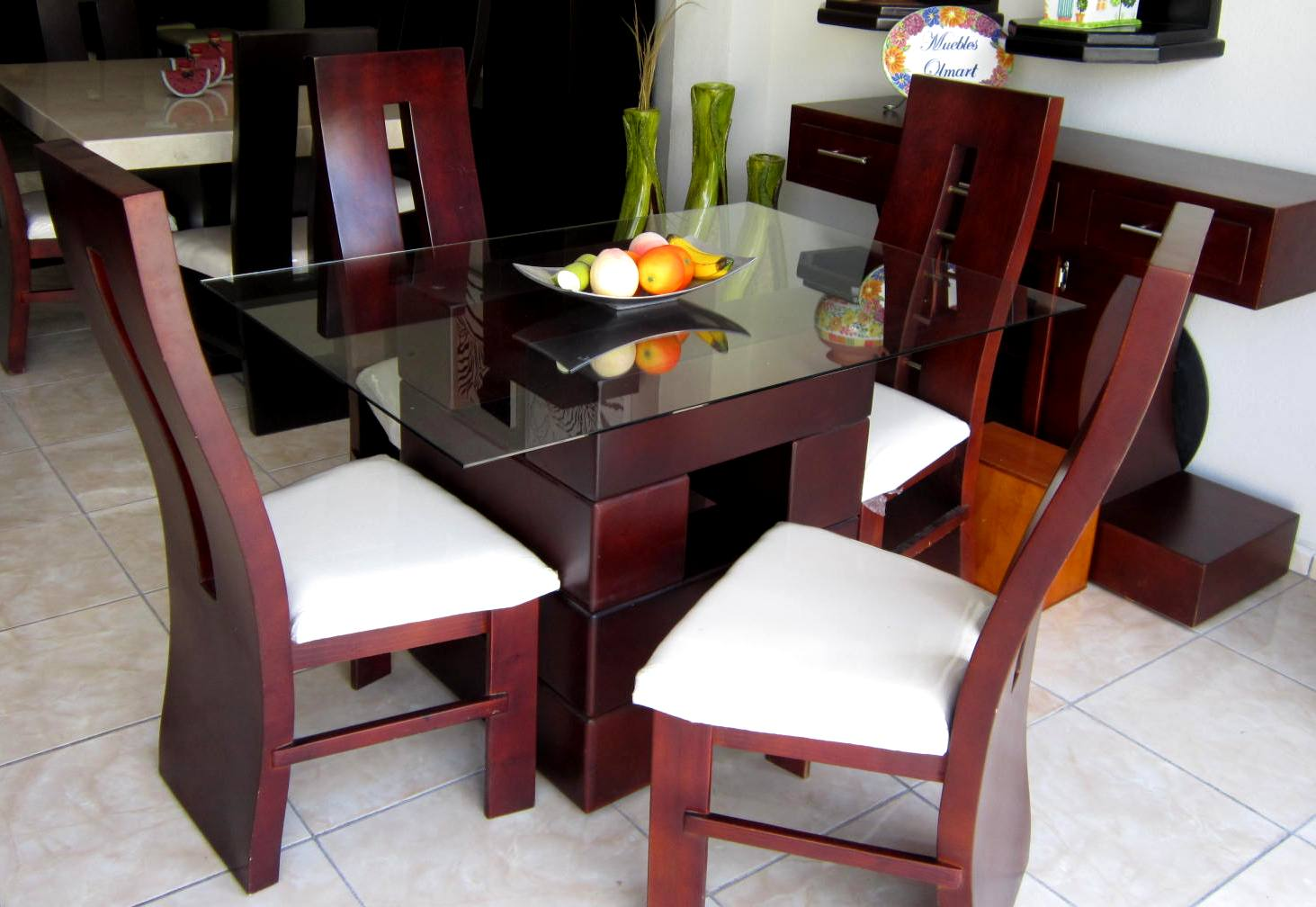 Muebles alvac for Comedor 4 sillas madera