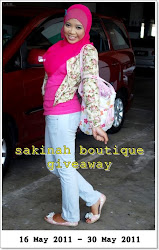 Mari join sakinah boutique 1st giveaway
