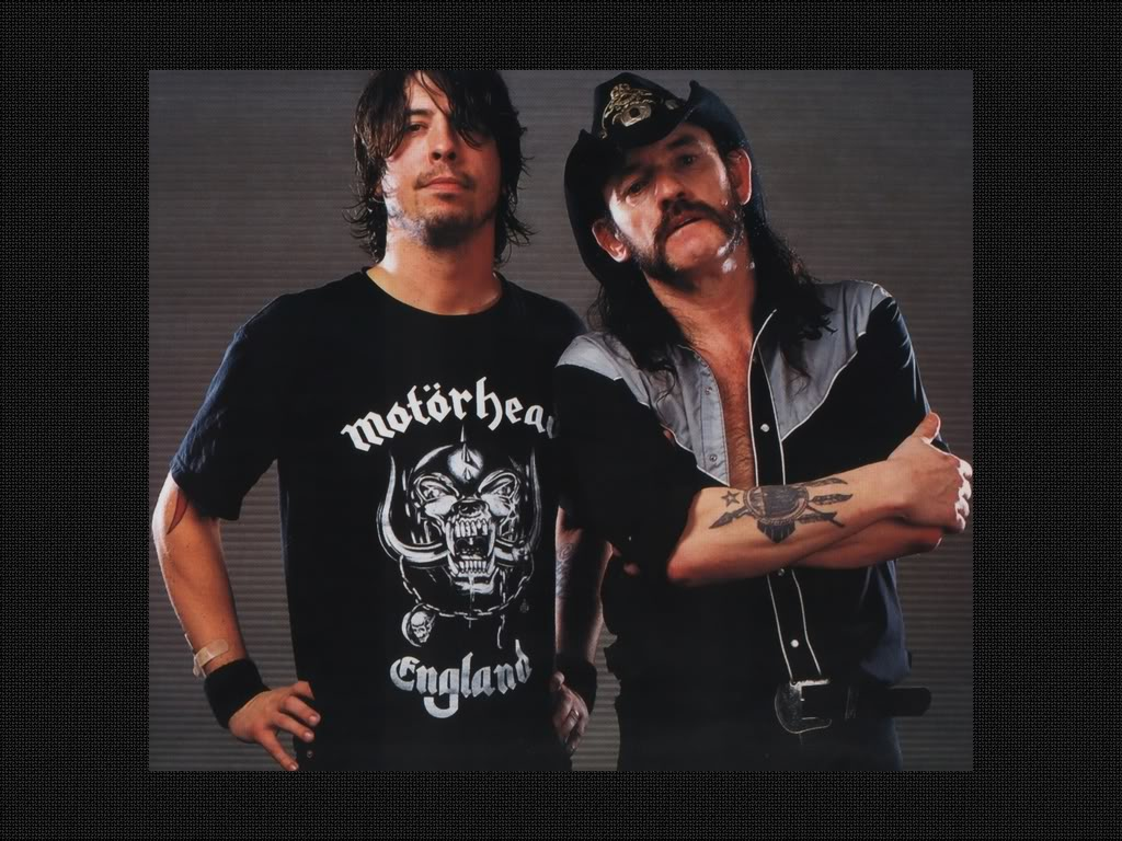 dave grohl and Lemmy Kilmist