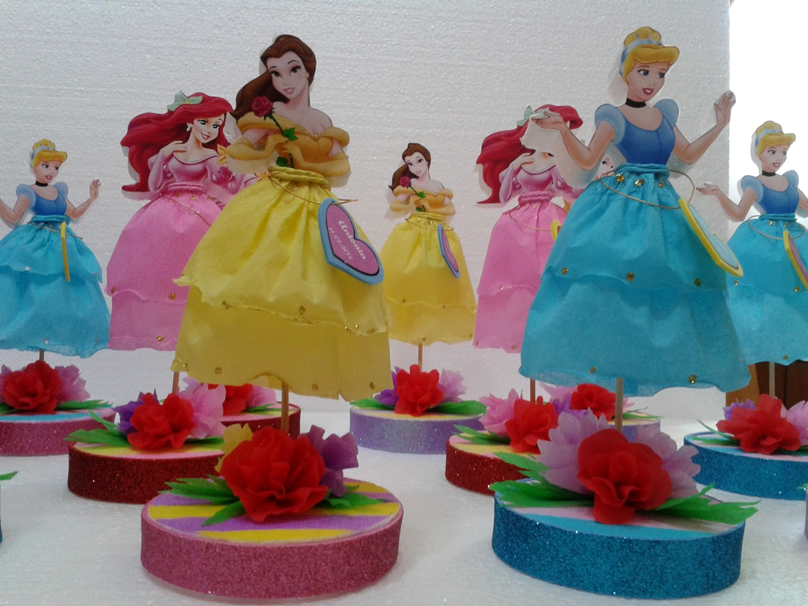Decoraciones infantiles souvenir princesas - Decoracion cumpleanos infantiles manualidades ...