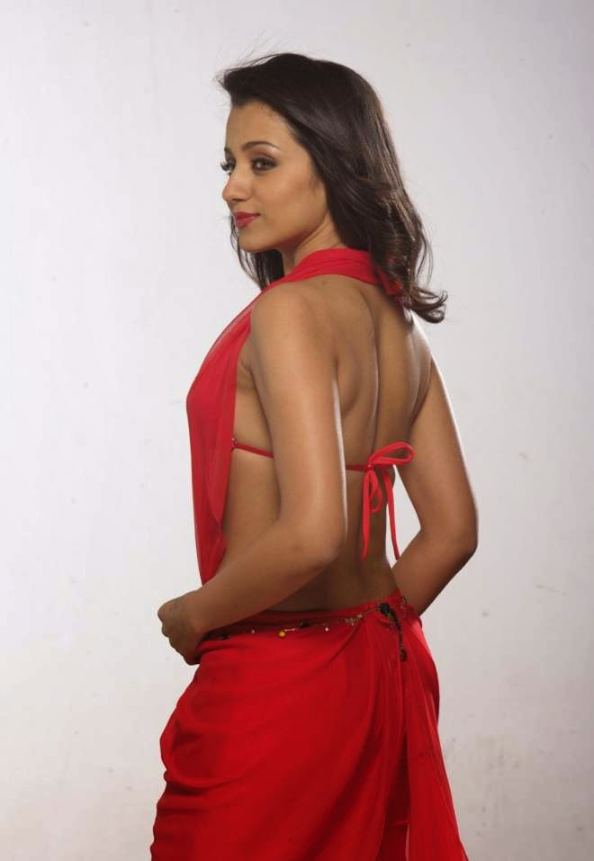 trisha hot backless photo
