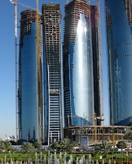 Etihad Towers in January 2010