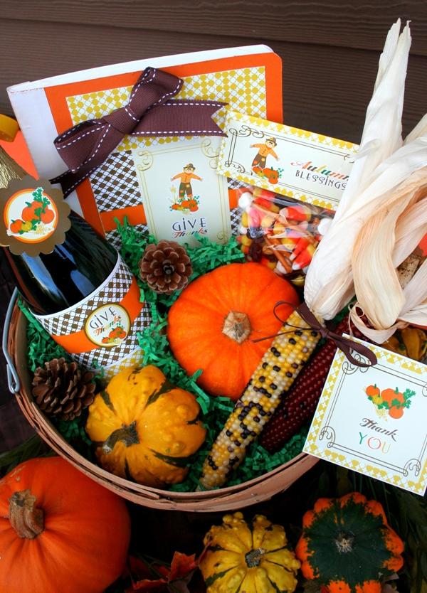 Thanksgiving diy gratitude gift basket party ideas
