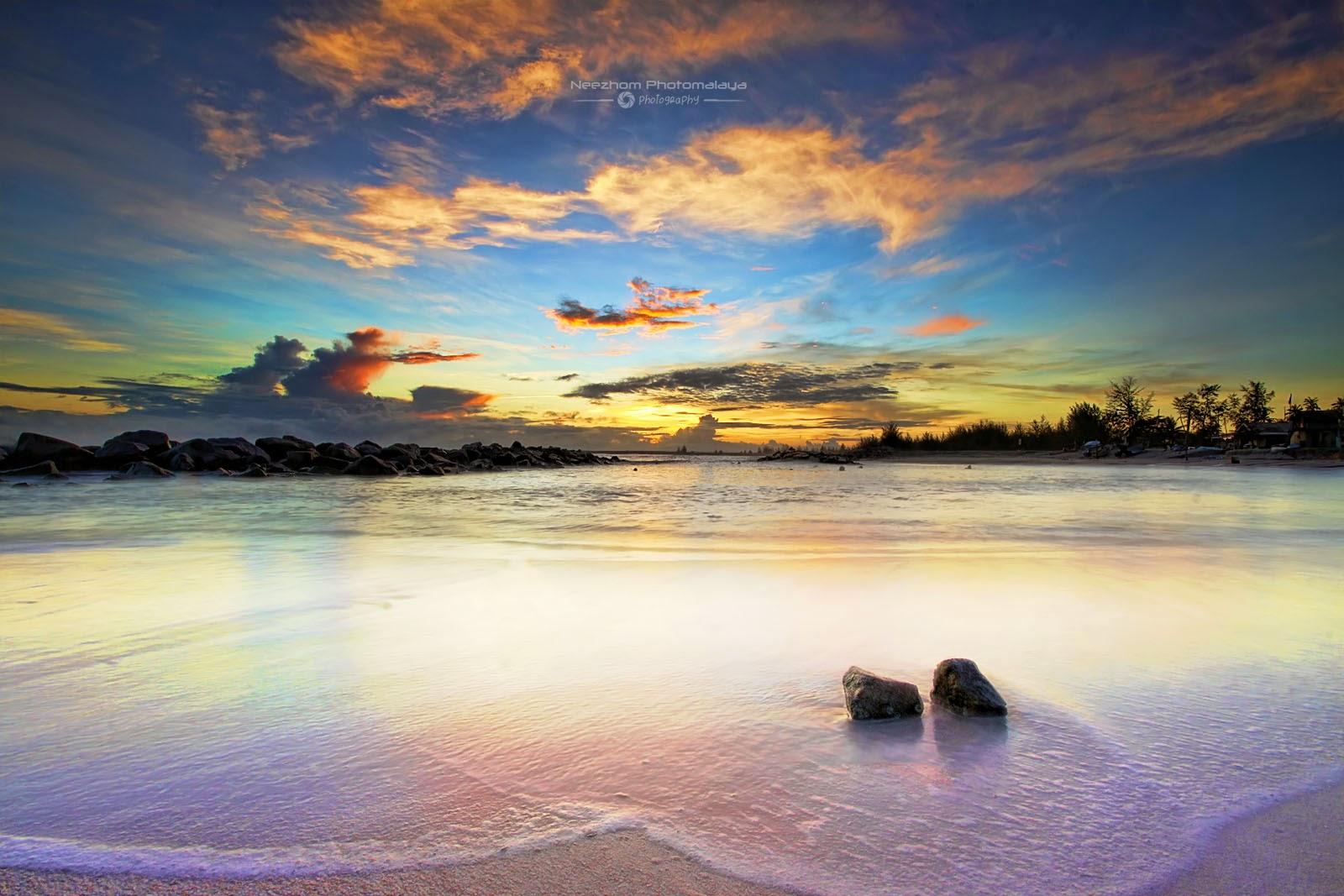 Sunrise Musim Tengkujuh 2014 di Pantai Tok Jembal