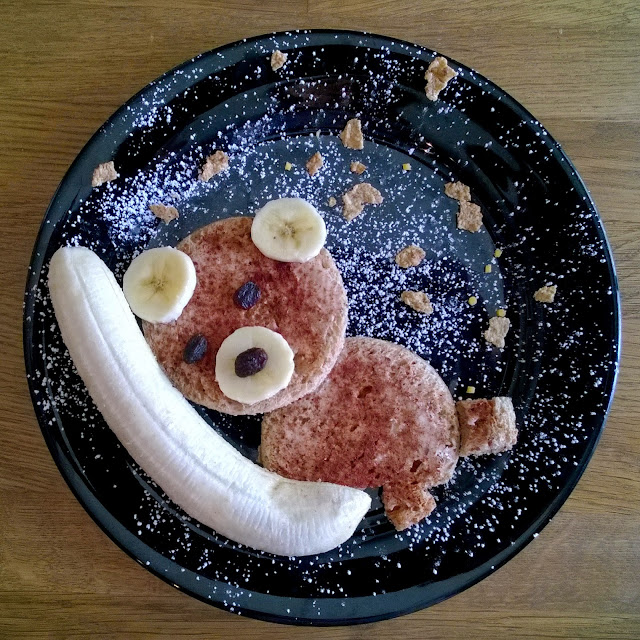 Bear on the moon food art
