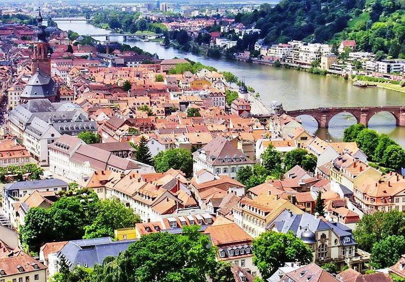 Heidelberg, Blick vom Heidelberger Schloss