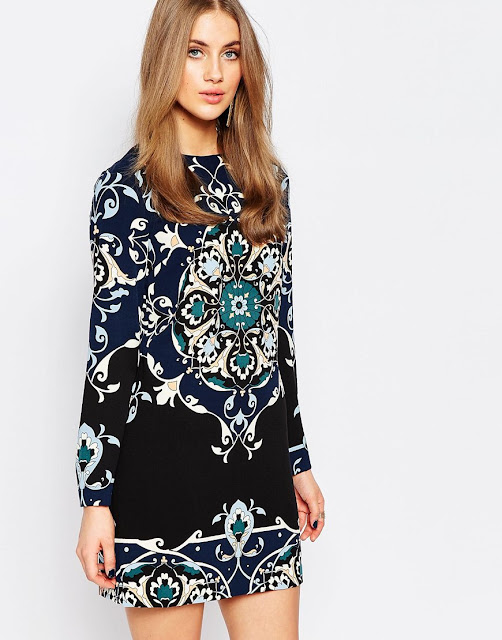 warehouse black print dress, black print colour dress,