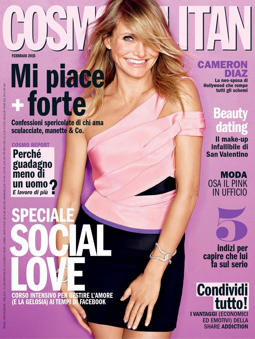 Actress, Model: Cameron Diaz for Cosmopolitan, Italia