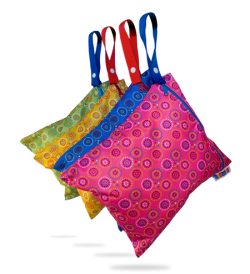 Bummis Fabulous Organic Wet Diaper Bag - all four prints