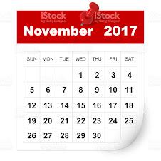 CALENDÁRIO NOVEMBRO 2017