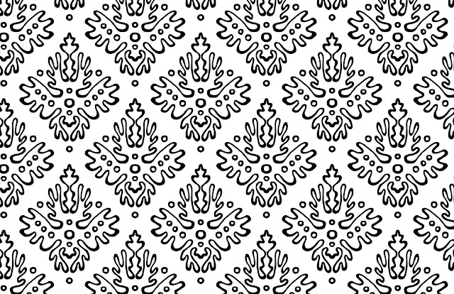 antler damask 365patterns