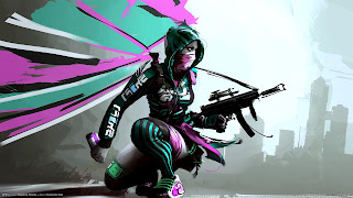 Punk Girl Submachine Gun APB Game Gangsta Graffiti HD Wallpaper