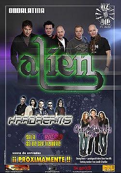Alien, la banda de Jim Jidhed, en concierto en Madrid en Septiembre