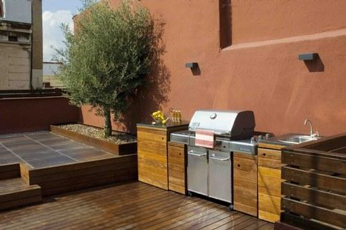 Blog de muebles jard n ideas para cocinar en la terraza for Muebles de jardin para terrazas pequenas