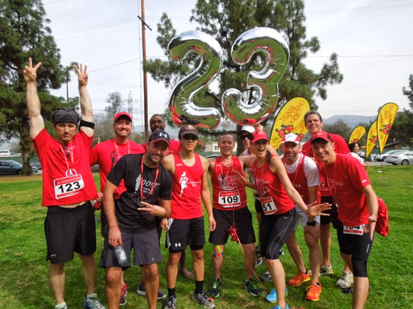 T2 Team to End AIDS marathon training group 23 miles