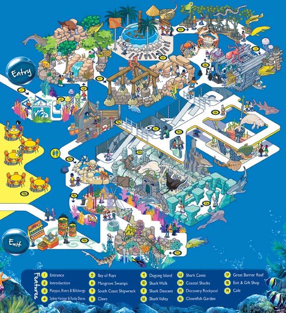 Sydney Life Sea Life Sydney Aquarium – Sydney Tourist Attractions Map