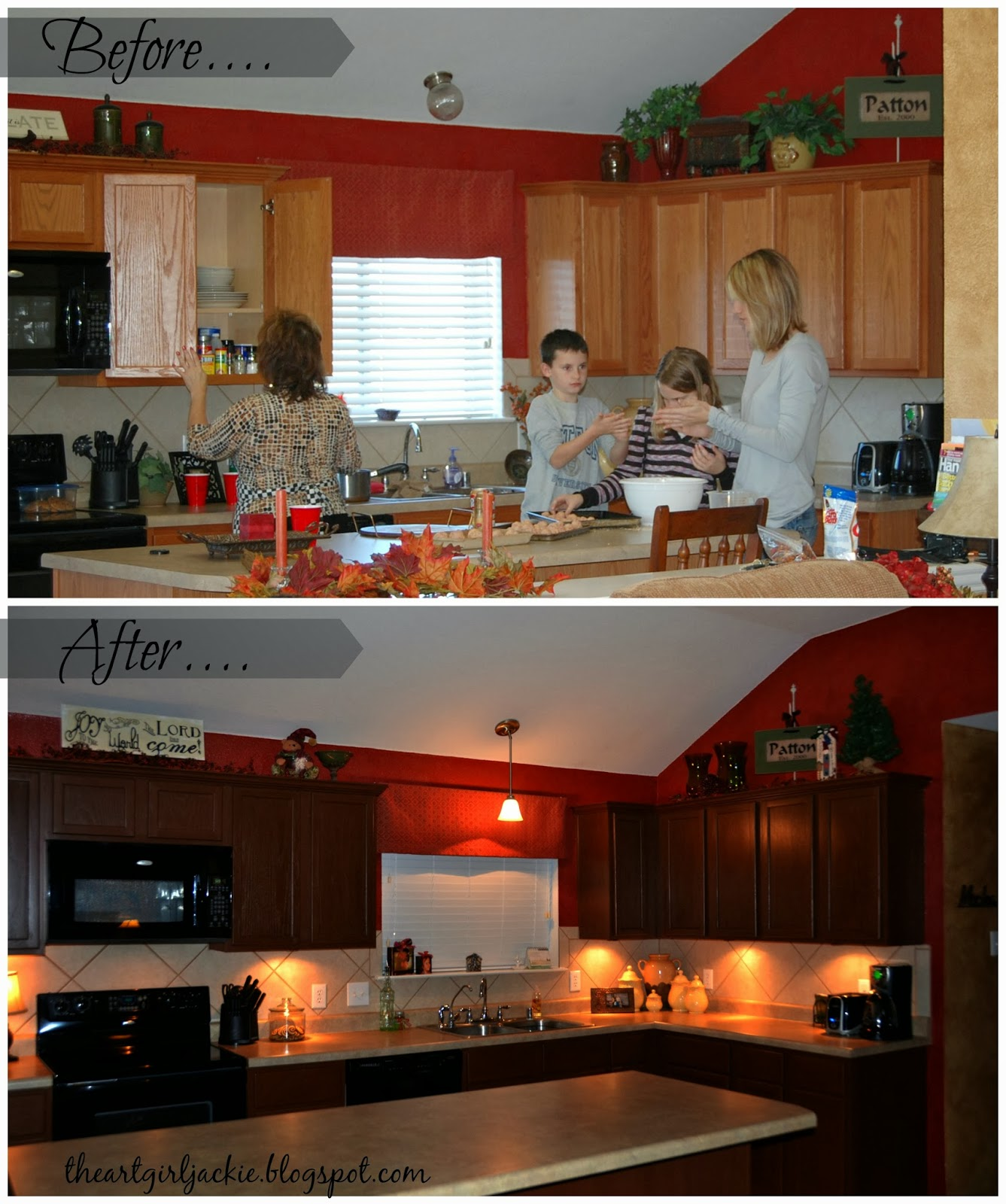 Kitchen Night Lights The Art Girl Jackie Kitchen Cabinet Update