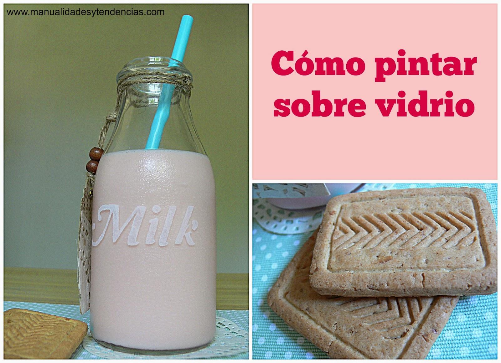 Manualidades y tendencias decorar una botella de leche - Como decorar un sobre ...