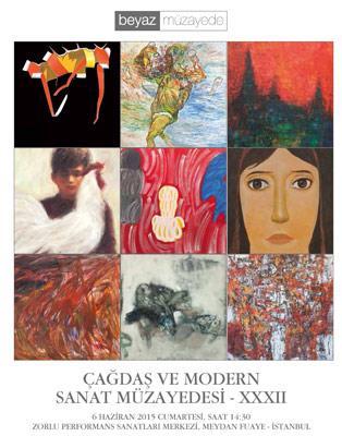 6 Haziran 32. Çağdaş ve Modern Sanat  Müzayedesi  - Beyaz Art Müzayede