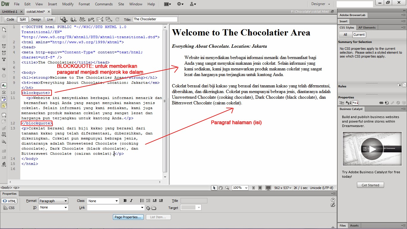 Tutorial Membuat .HTML Pada Dreamweaver CS6 | Warna Warni ...