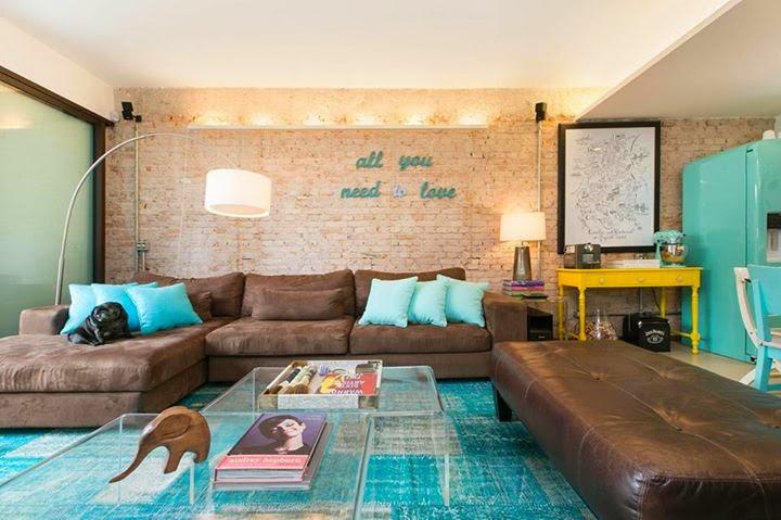 Sala De Estar Verde Agua ~ casa de vila que é um sonho  Jeito de Casa  Blog de
