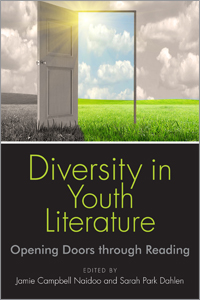 "Book cover; ""Diversity in Youth Literature: Opening Doors Through Reading"""