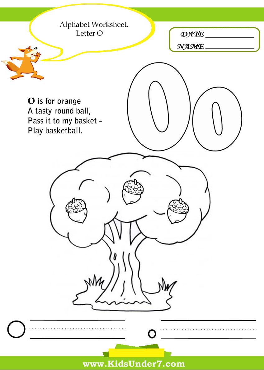 math worksheet : letter o worksheet printable  7 best images of letter o worksheet  : O Worksheets For Kindergarten