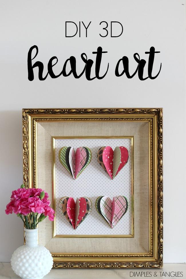 Valentine's Day craft, paper crafting, Valentine's Day Artwork