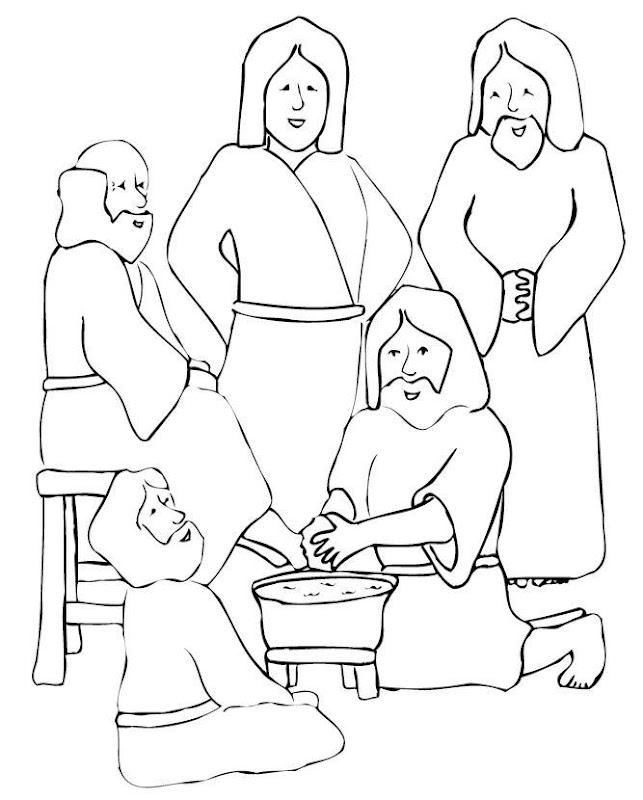 Jesus Washing Feet Coloring Sheets (10 Image) - Colorings.net