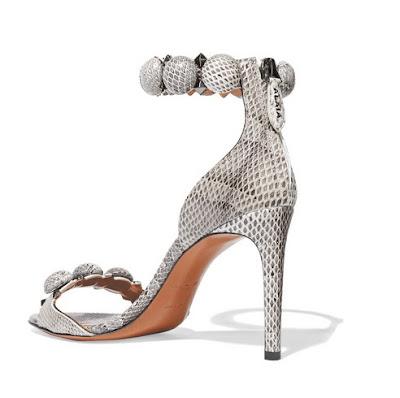 Alaia Embellished Snake Sandals
