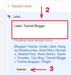 Cara Membuat Label di Blog