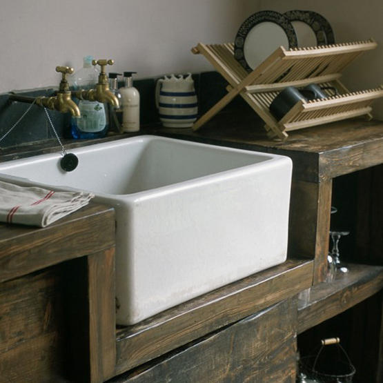 White floors taps with my new butler sink for the kitchen relocation renovation - Butler kitchen sinks ...