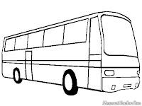 Halaman Mewarnai Gambar Mobil Bus