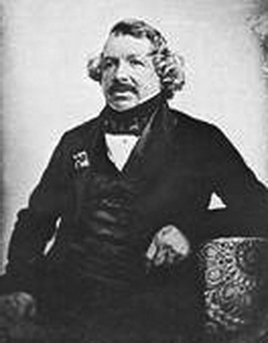 Louis Daguerre, is a French, daguerreotype, photography of daguerreotype