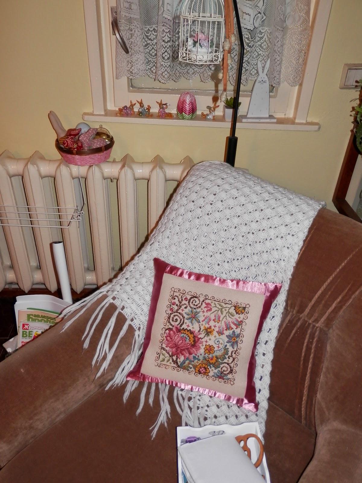 Как сделать свою вышивку на подушку