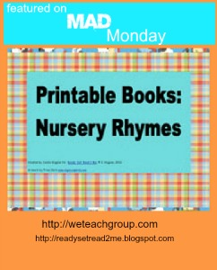 printables, deals, we teach, mad monday, printable books for emergent readers, sale