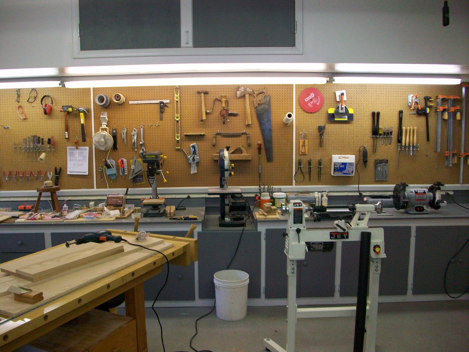 One Car Garage Woodshop Layout