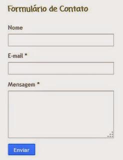 formulario de contato do blogger