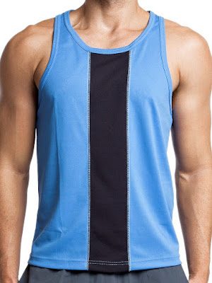 jackadams Race Tank Top Sky Blue-Black Gayrado