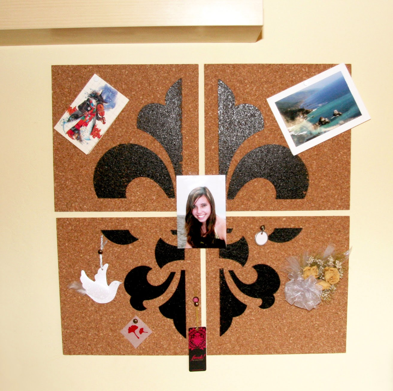 Piece of Art DIY Bulletin Board with Mementos