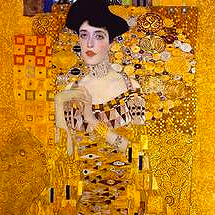 painting using gold by Gustav Klimt