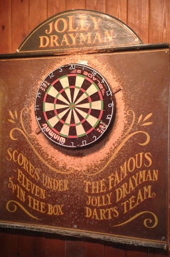 Darts at the Jolly Drayman pub in Gravesend, Kent